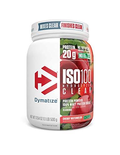 Dymatize Nutrition ISO 100 Clear Powder 17.64 OZ (1.1 LB) 500 g Cherry Watermelon