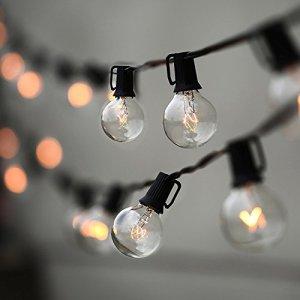 Globe String Lights Lampat 25Ft G40
