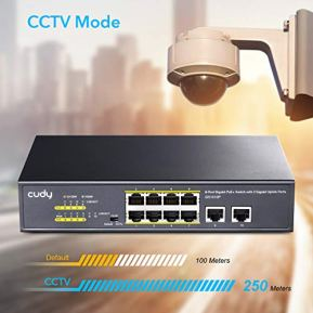 Cudy-GS1010P-10-Port-Gigabit-Ethernet-Unmanaged-PoE-Switch-with-8-x-PoE--120W-DesktopRackmount-CCTVVLAN-Mode-8023af-8023at-Plug-and-Play