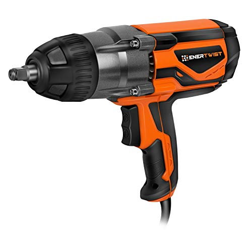 Enertwist Electric Impact Wrench 1/2 Inch with Hog Ring Anvil, 8.5 Amp Corded 450 Ft.lbs Max Torque, ET-IW-1020