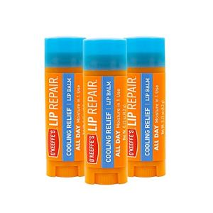 O'Keeffe's Cooling Relief Lip Repair Lip Balm for Dry, Cracked Lips, Stick, (Pack of 3), Model:K0710116 3