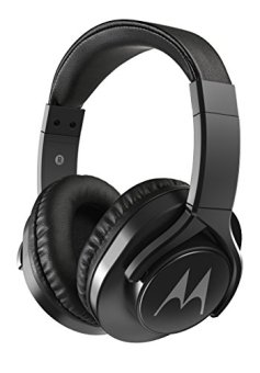 Motorola Pulse 3 Max Over-Ear Wired Headphones with Alexa (Black)