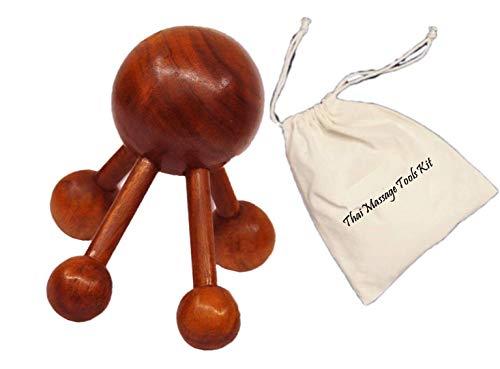 Reflexology Thai Spider Massage Shoulder & Full Body Wooden Tool
