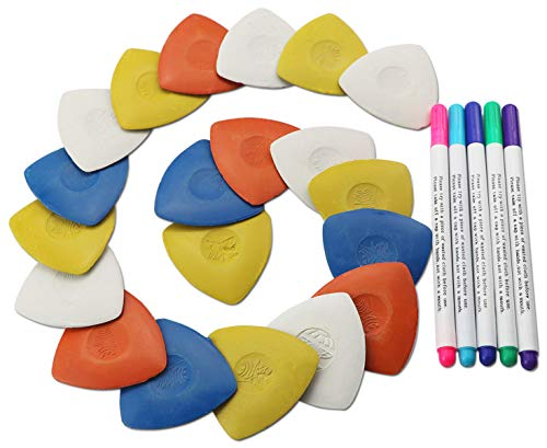 20PCS Triangle tailor's Fabric Marker chalk and 5PCS washable pen set for Sewing cloth