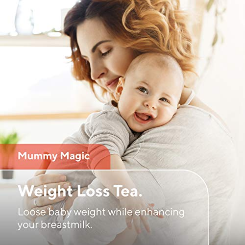Mummy Magic Sweet Cinnamon & Moringa Detox Tea + 100% Organic + Supports Metabolism + Weight Loss for Women + Digestion with Rooibos Tea, 20 Biodegradable Sachets- Up to 40 Servings 2