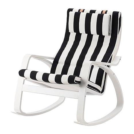Ikea Sedia A Dondolo Bianco Stenli Nerobianco