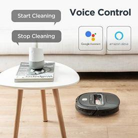 EUREKA-Groove-Robot-Vacuum-Cleaner-Wi-Fi-Connected-App-Alexa-Remote-Controls-Self-Charging-NER300-Black