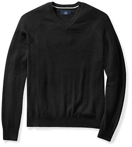 BUTTONED DOWN Men's Cashmere V-Neck Sweater,...