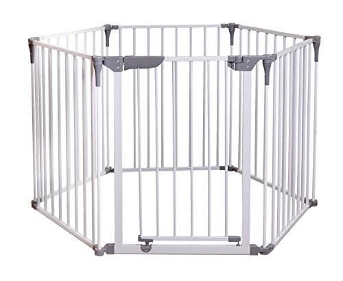 Dreambaby Royale Converta 3 in 1 Play-Yard, Fireplace Guard, and Wide Barrier Gate (White)
