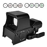 MidTen 1X22X32 Red Green Dot Sight 4 Reticles Reflex Sight Quick Detach Mount 20mm Rail