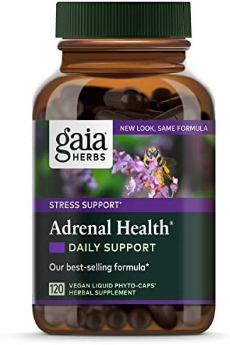 41oPozHgaOL. AC  - Gaia Herbs Adrenal Health Daily Support, Stress Relief and Adrenal Fatigue Supplement