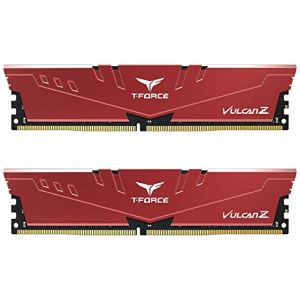 TEAMGROUP T-Force Vulcan Z DDR4 16GB Kit (2x8GB) 3000MHz (PC4-24000) CL16 Desktop Memory Module Ram (Red…