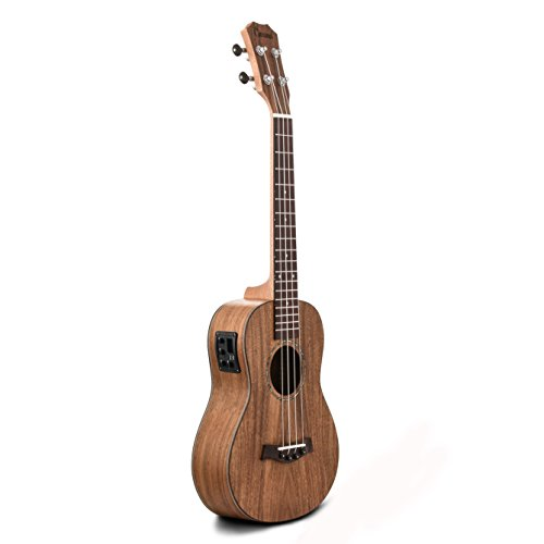 Caramel CB203 All Solid Acacia Baritone Acoustic & Electric Ukulele With Truss Rod