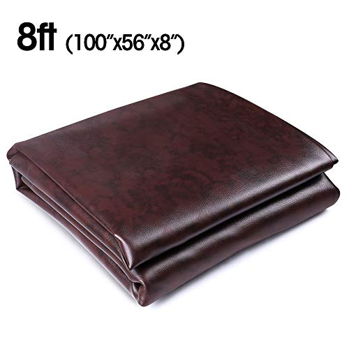 Boshen 7/8/9FT Heavy Duty Fitted Leatherette Billiard Pool Table Cover...