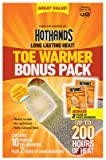 HotHands Toe & Hand Warmer Pack - Long Lasting Safe Natural Odorless Air Activated - 10 Pairs of Toe Warmers & 2 Pairs of Hand Warmers