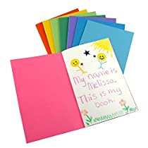 Hygloss Products Inc. HYG77640 Mini Bright Books pack of 10 assorted colors