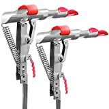 Automatic Spring Fishing Rod Holder 2 Pack - Stainless Steel for Ground Support Brackets, Adjustable Sensitivity & Folding Fish Pole Rack