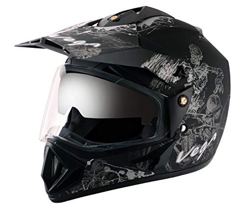 Sketch Dull Black Silver Helmet of Motorcycle Gadgets & Accessories
