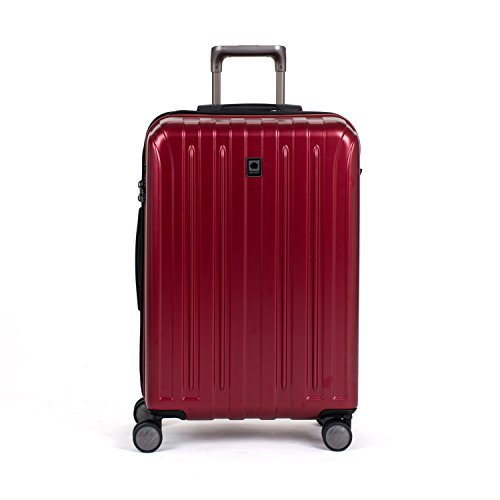 Delsey Luggage Helium Titanium 25' Expandable Spinner Trolley (One size, Red)