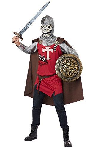 California Costumes Men's Skull Knight Adult, Burgundy/Brown, X-Large