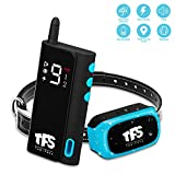 Dog Training Collar - TFS Electric Training Collar with Remote 2000ft Range, IP67 Waterproof Rechargeable Medium Large Dog Puppy Bark Collar Set with Beep Vibration Shock Modes