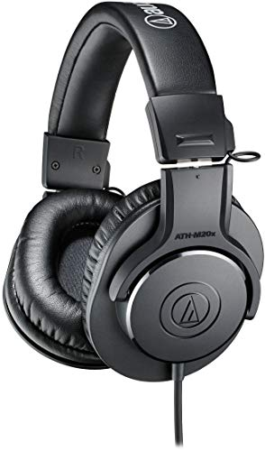 Audio-Technica ATH-M20X - Auriculares profesionales de monitorización, Negro