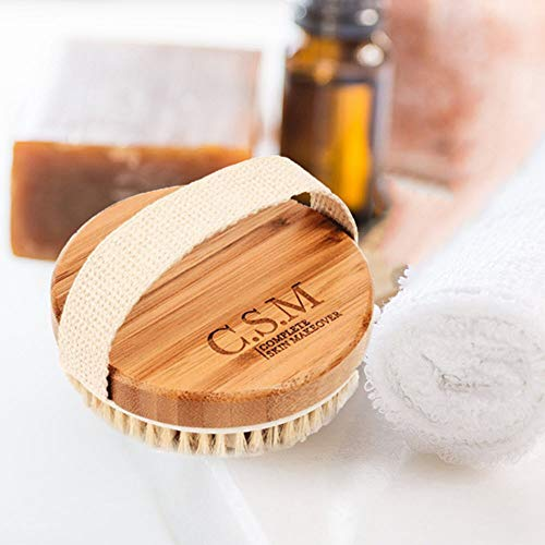 C.S.M. Body Brush for Wet or Dry Brushing - Gentle Exfoliating for Softer, Glowing Skin - Get Rid of Your Cellulite and Dry Skin, Improve Your Circulation - Gentle Massage Nodes 10