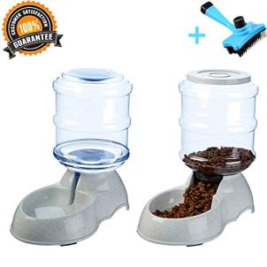 Ancaixin-Automatic-Cat-Feeder-and-Water-Dispenser-in-Set-with-Slicker-Brush-Gift-for-Small-Large-Dog-Pets-Puppy-Kitten-Big-Capacity-1-Gallon-x-2
