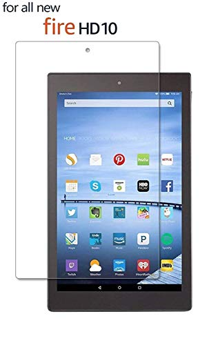 "M.G.R.J® Fire HD 10 Tempered Glass Screen Protector Compatible with for All Amazon Fire HD 10 (2017/2015 Gen's) (10.1"" inch) 151"