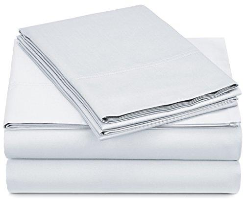 Pinzon 500-Thread-Count Pima Cotton Sateen Sheet Set - Full, White