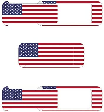 Webcam Cover 0.032in Thin – Web Camera Cover fits Laptop, Desktop, PC, Macboook Pro, iMac, Mac Mini, Computer, Smartphone,Protect Your Privacy and Security,Strong Adhensive(National Flag)