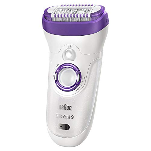 Braun-Epilator-Silk-epil-9-9-579-Facial-Hair-Removal-for-Women-Facial-Cleansing-Brush-Womens-Shaver-Wet-Dry-Cordless-and-7-extras