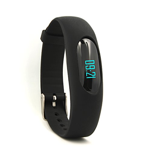 Willful Non-Bluetooth Pedometer Bracelet Fitness Tracker Watch with Step Calories Counter Sleep Monitor Distance Time / Date (Simple,No app,No Phone need) for Walking Running Kids Men Women (Black)