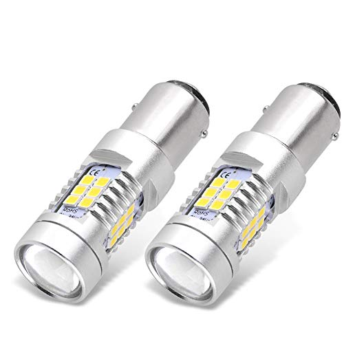 YITAMOTOR 1157 LED Bulb White for Brake/Tail/Reverse Light, BAY15D 2357 2057 7528 LED Replacement Bulb for Vehicle/Motorcycle/Trailer/Tractor/Camper/RV, 12V-24V, 2-Pack