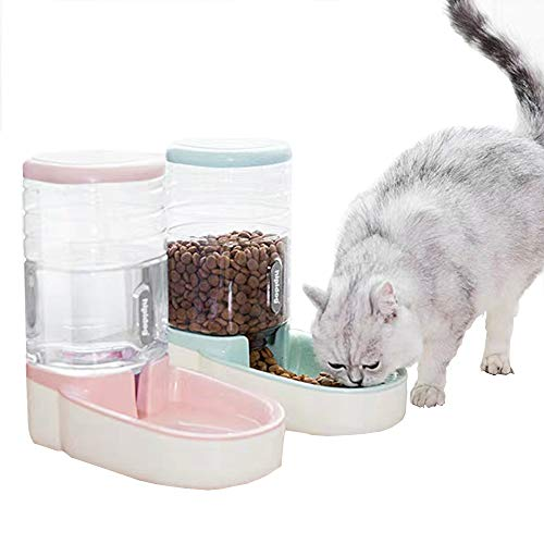 Fairy Tale Automatic Pet Feeder Small&Medium Pets Automatic Food Feeder and Waterer Set 3.8L, Travel Supply Feeder and Water Dispenser for Dogs Cats Pets Animals 1