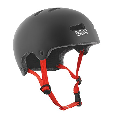 TSG - Superlight Solid Color - (Satin Black,L/XL 57-59 cm) Helmet for Bicycle Skateboard