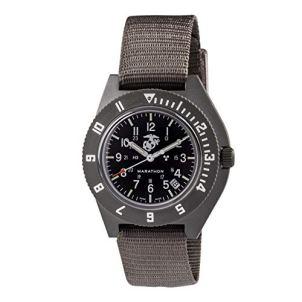 Marathon Watch WW194013USMC-SG Navigator Swiss Made Military Issue Pilot's Watch. ETA F06 Movement, Date and Tritium (41mm, Sage Green, USMC Markings)