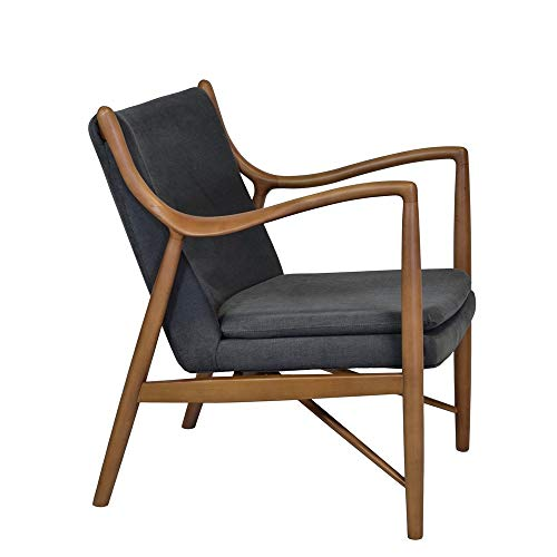 mid-century modern chair - modern boho living room