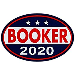 "Crazy Novelty Guy Oval Shaped Magnet - Cory Booker 2020 - Democrat President - Magnetic Bumper Sticker, Campaign Magnet - 6"" x 4"""