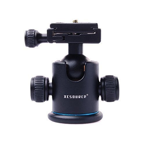 XCSOURCE Tripod Ball Head Professional Metal Camera Tripod Ballhead with Quick Release Plate 360-degree panoramic shooting for for Canon Sony Nikon DSLR Cameras and Monopod