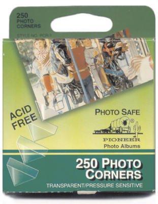 Pioneer Photo Corners Self Adhesive, Clear, 250-Pack