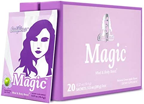MAGIC by Califina - Pre Workout Powder for Women - Boost Energy, Mood, Lean Muscle Strength & Tone - Clean, Vegan, Greens-Based Formula - Zero Artificial Ingredients - 20 Servings 1
