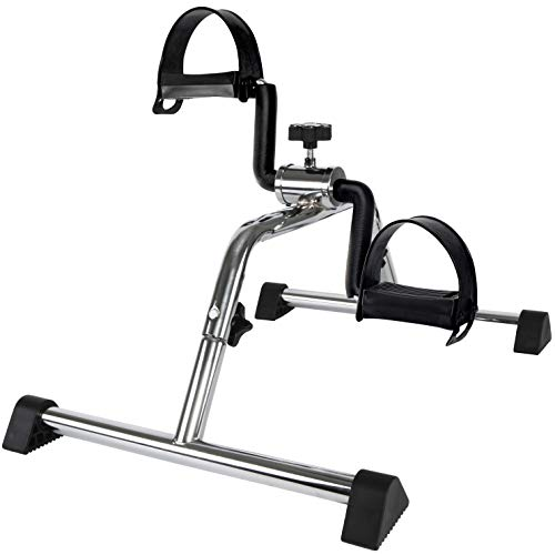 Vaunn Medical Pedal Exerciser Chrome Frame (Exerciser Peddle - Simple and Quick Assembly)