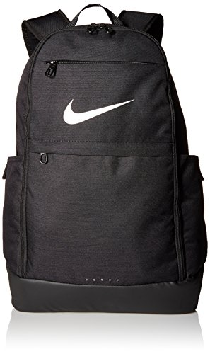 Nike Brasilia Training Backpack, Extra Large Backpack Built for Secure Storage with a Durable Design, Black/Black/White