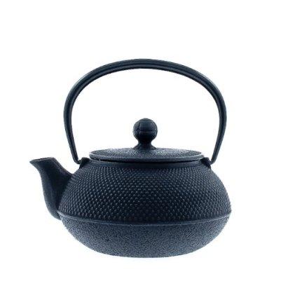Iwachu 480-161 Japanese Iron Tetsubin Teapot, Hobnail, Black
