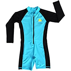 Swim with Me- SPF 50+ Total Sun Protection Swimsuit for Infant, Baby, Toddler, and Kids! (Light Blue 3 Years)