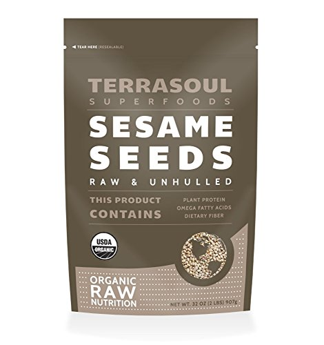Raw Organic Sesame Seeds (Unhulled), 2-pounds