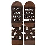 Novelty Funny Saying Crew Socks If You Can Read This Bring Me Coffee for Men Women
