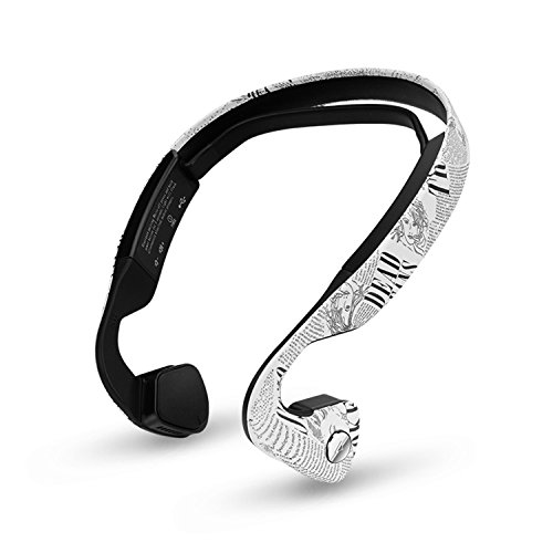 Bone Conduction Headphones by oannao, Sweatproof, Sport,Safe, Wireless Bluetooth Earphones with Mic,for Drivers,Outdoor Cyclist and Elderly People with Hearing Impairment …