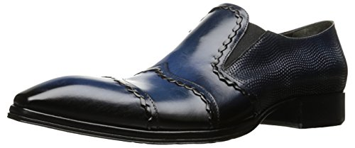 Jo Ghost Men's Rio Slip-on Loafer, Black with Blue Wash, 12 US/12=45 M US